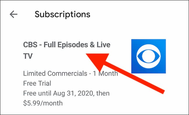 how to cancel cbs subscription