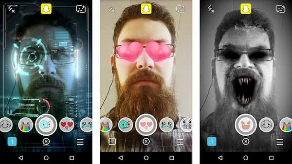how to use two filters on snapchat