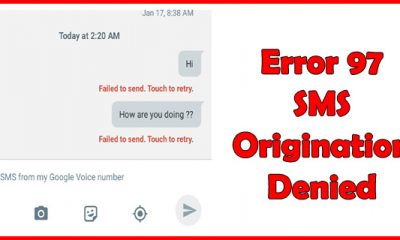 Error 97 SMS Origination Denied