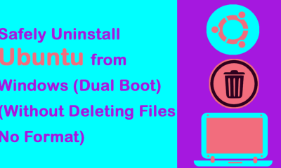 How To Uninstall Ubuntu From Windows Dual Boot