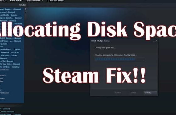 Steam Preallocating Slow