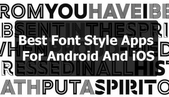 font styles apps