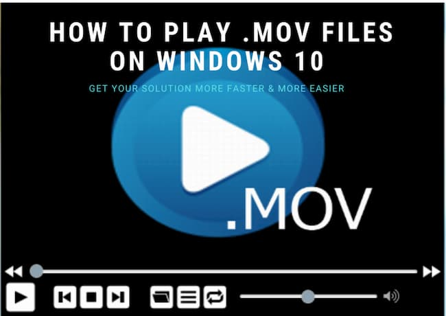 how to play .mov files on windows 10