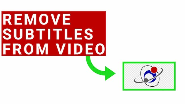 how to remove subtitles from video