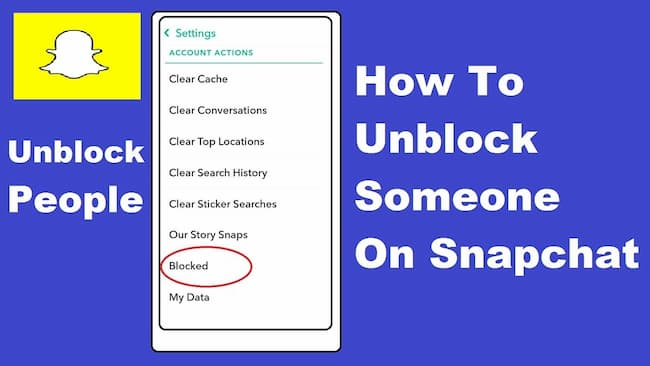 unblock someone on snapchat