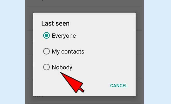 how to hide your last seen on whatsapp