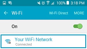 wifi network android phone